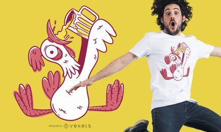 Drunk rooster t-shirt design
