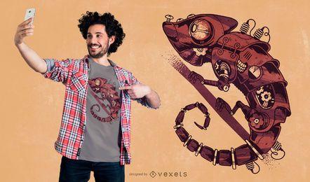 Diseño de camiseta Steampunk Chamaleon