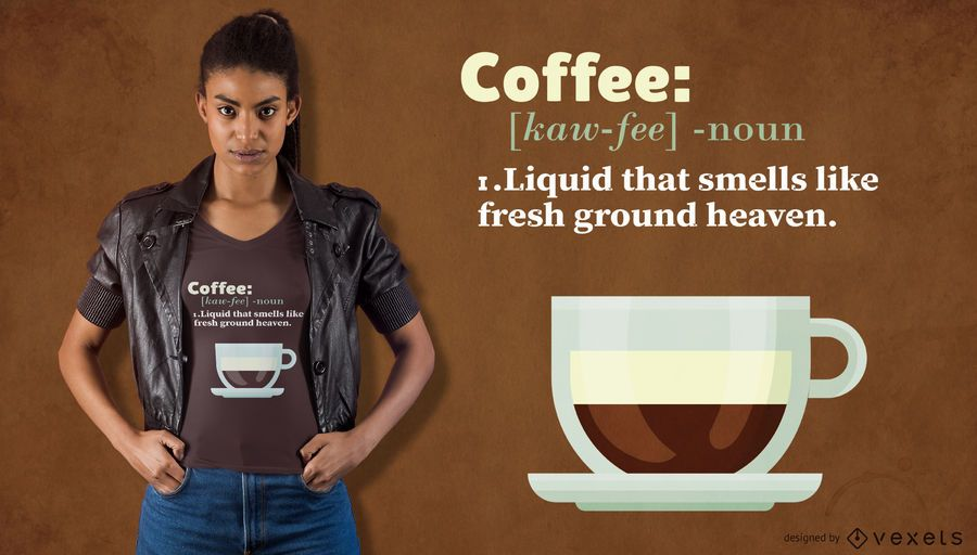 Coffee definition t-shirt design