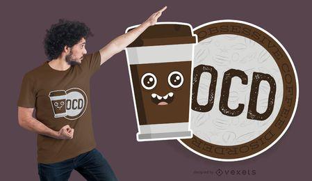 Projeto do t-shirt do café de OCD