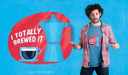 Totalmente fabricado com design de t-shirt