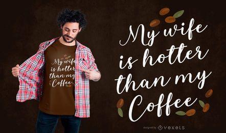 Design de t-shirt de café mulher