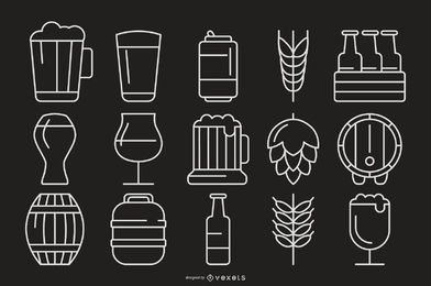 Bier Strich Icon Collection