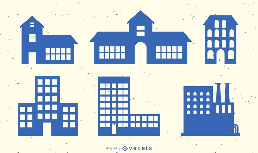 Building SIlhouette Vector Collection