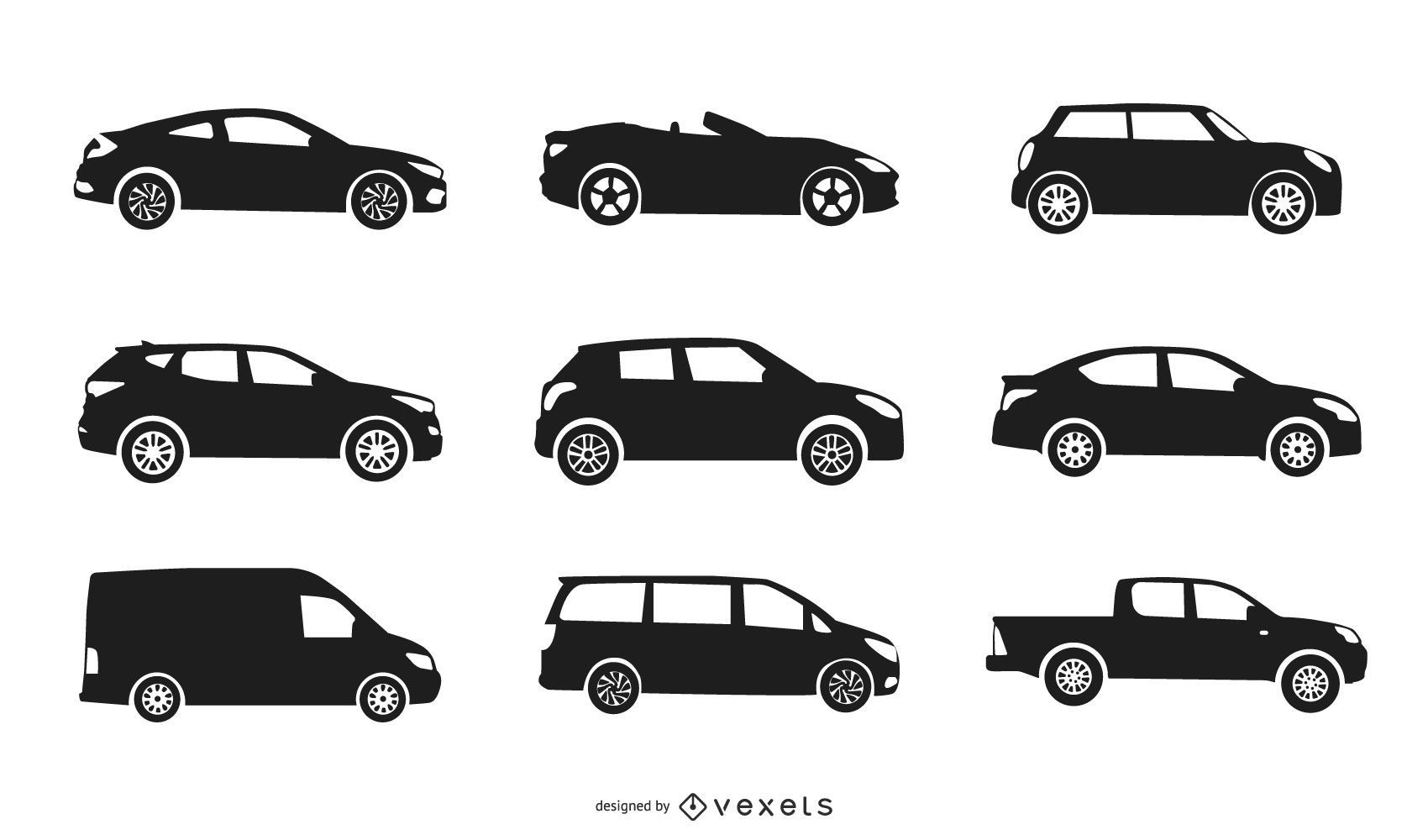 City Car Silhouette Collection