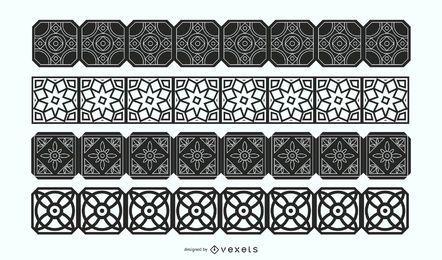 Conjunto de vectores de fronteras decorativas