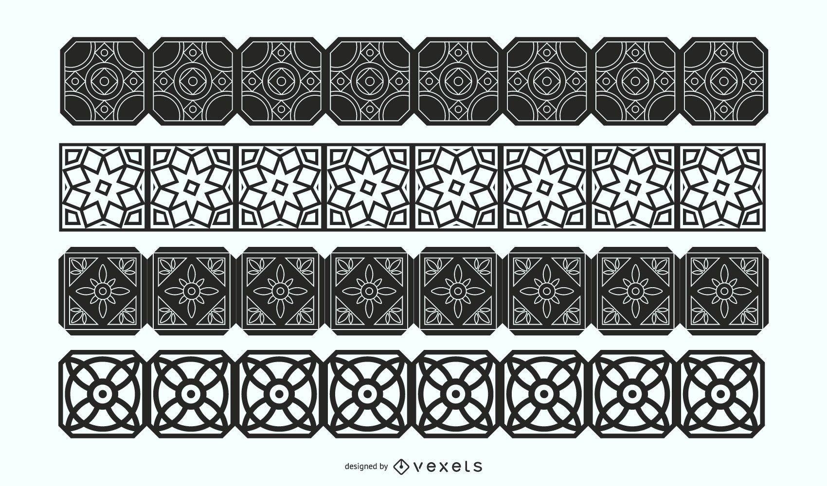 Decorative Borders Vector Set