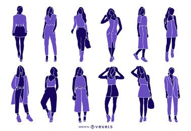 Woman Fashion Silhouette Collection