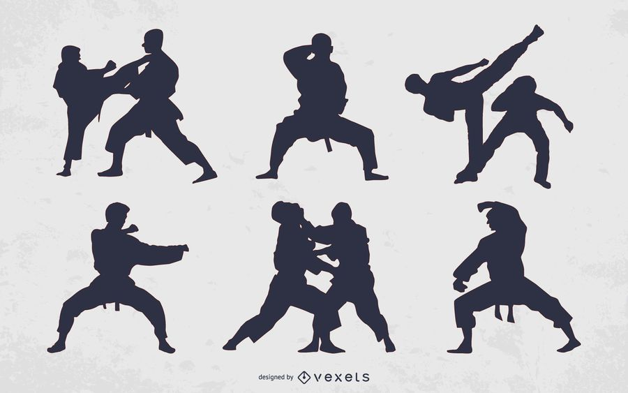 Martial Arts People Silhouette Collection