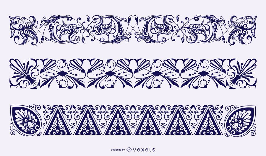 Floral Borders Vector Collection