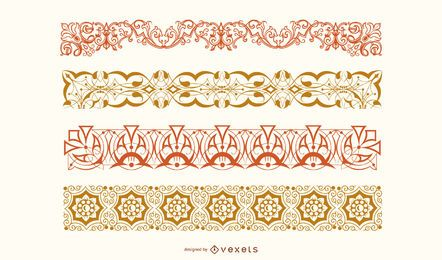 Floral Border Vector Set