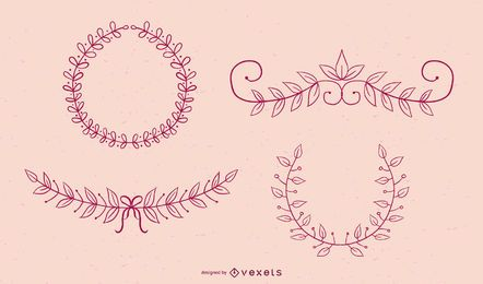 Floral Ornaments Vector Collection