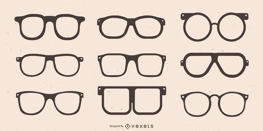 Colección de silueta de marco de gafas