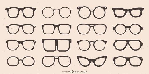Coleção de silhueta de armação de óculos