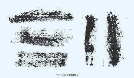 Conjunto de vectores de trazos de grunge