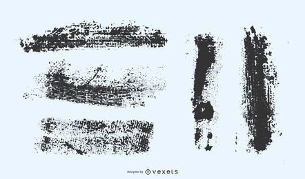 Conjunto de vetores de traços grunge