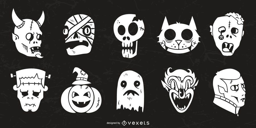 Halloween Character Silhouette Collection