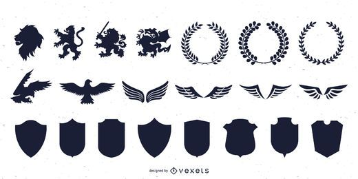 Heraldic Graphics Silhouette Collection