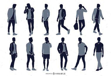 Men Fashion Silhouette Collection