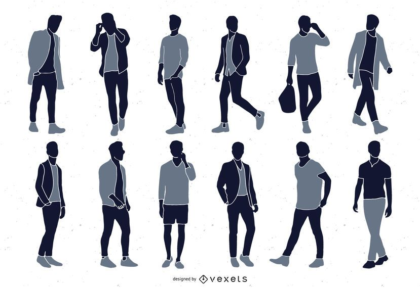 Men Fashion Silhouette Collection
