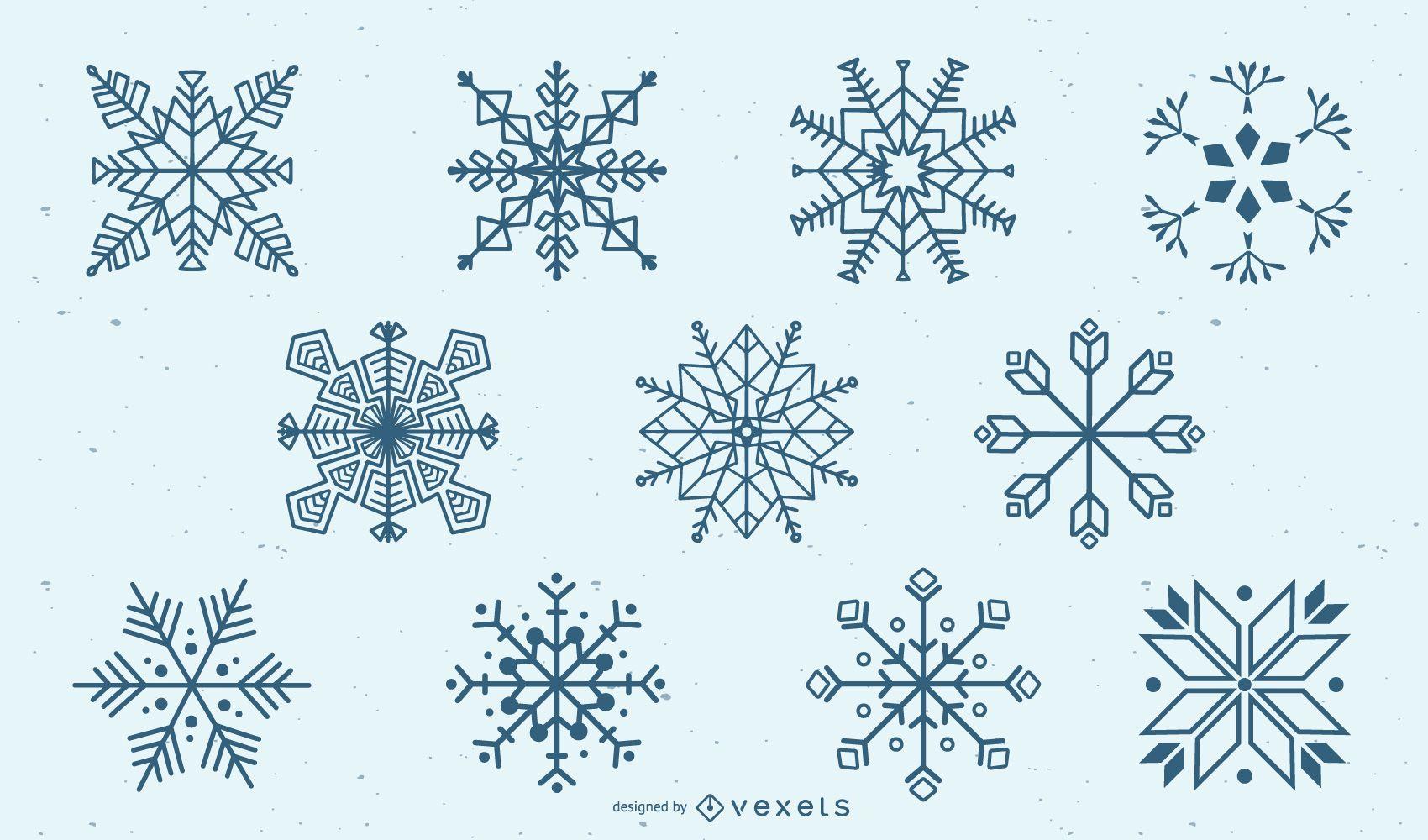 Snowflake Silhouette Set