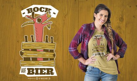 Diseño de camiseta de cabra borracha