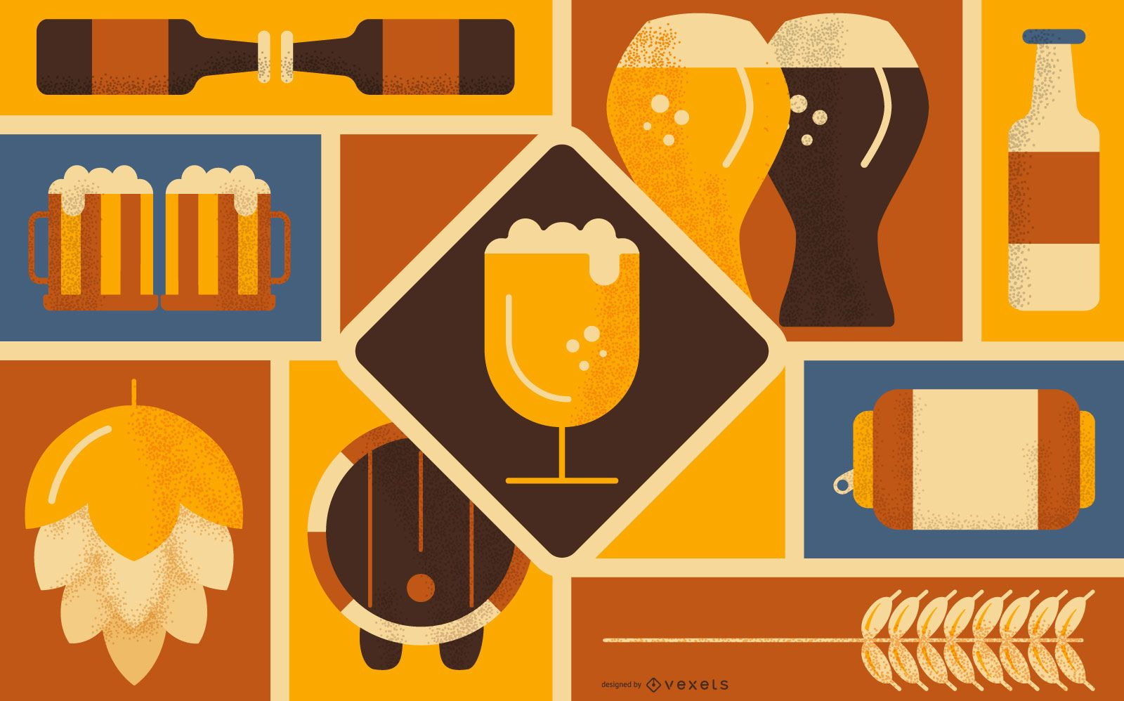 Beer Element Background Design