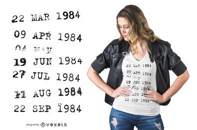 Bibliotheks-Stempel-T-Shirt Entwurf