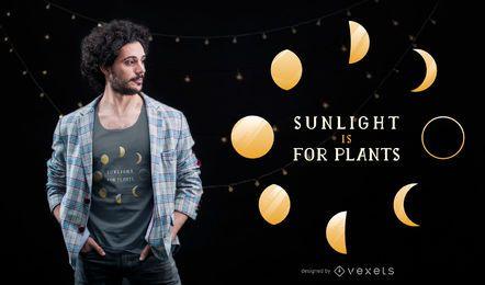 Projeto do t-shirt das citações da fase da lua