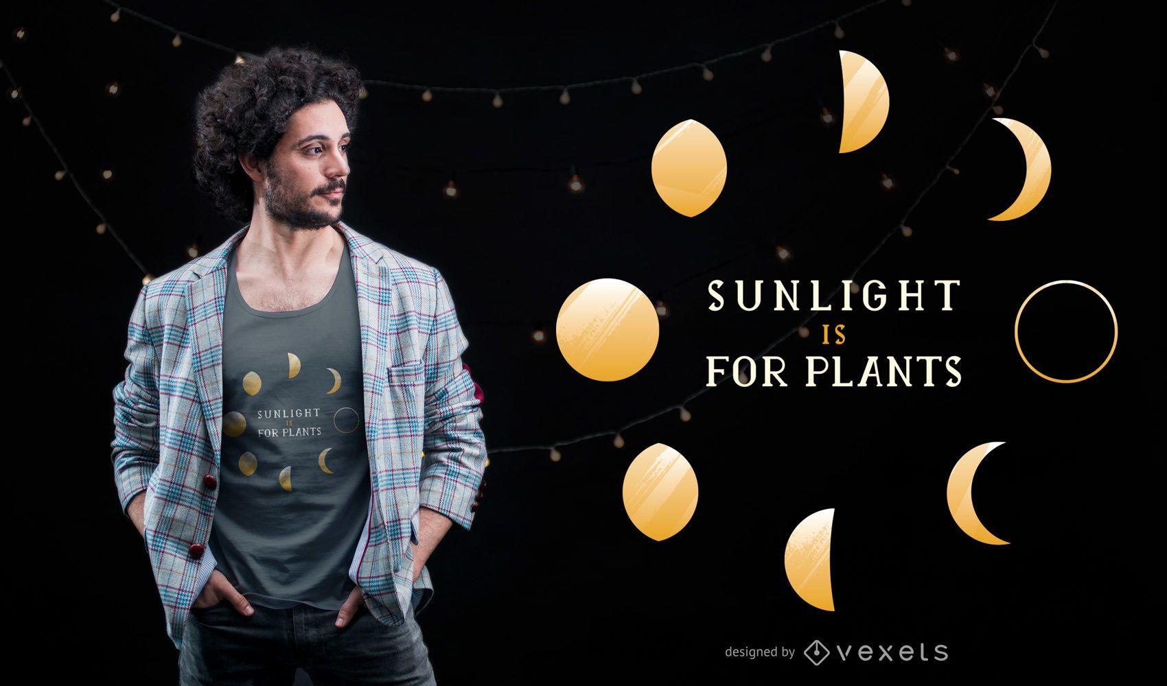 Diseño de camiseta Moon Phase Quote