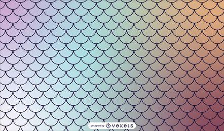 Meerjungfrau skaliert Farbverlauf Tileable Muster