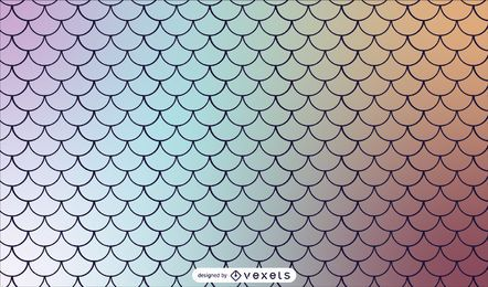 Mermaid Scaled Gradient Tileable Pattern