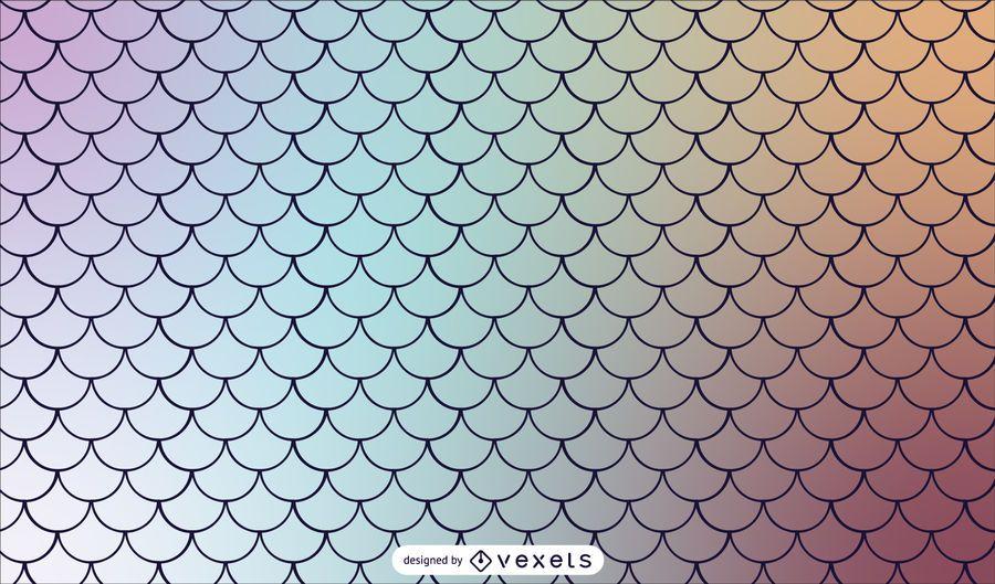 Mermaid Scaled Gradient Tileable Pattern