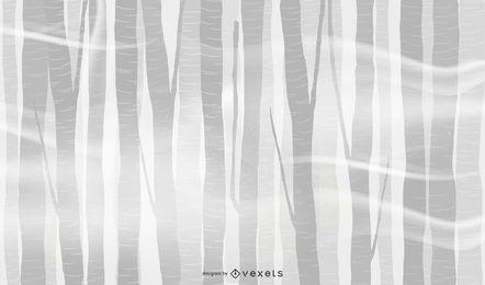 Design de plano de fundo de floresta de névoa