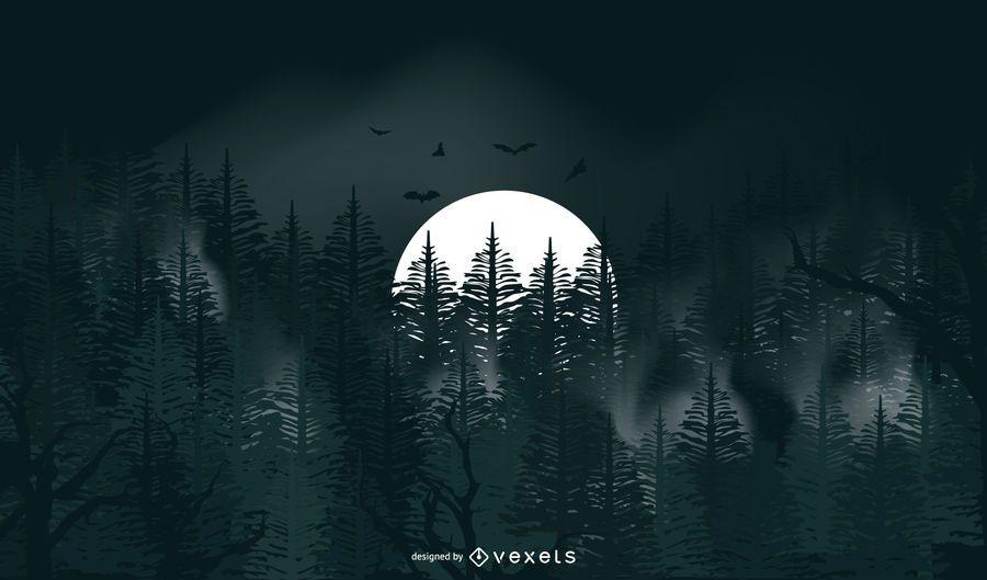 Fondo de luna llena de halloween