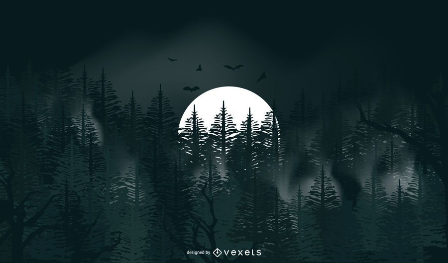 Full moon halloween background