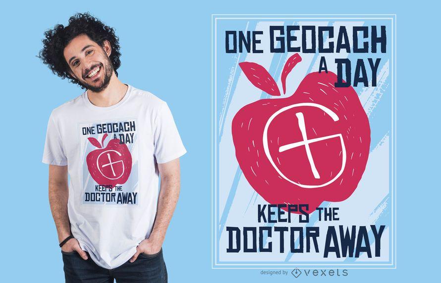 Diseño de camiseta de letras de geocaché