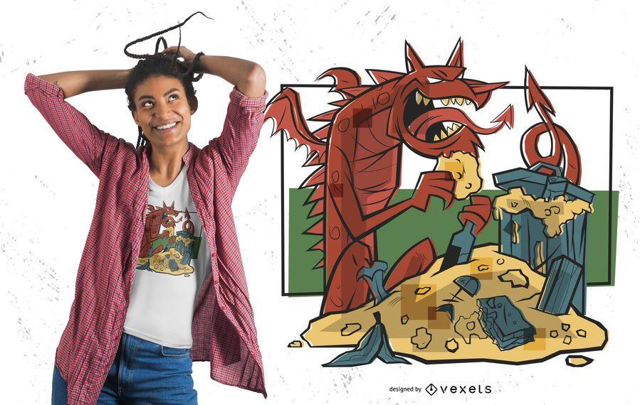Diseño de camiseta Treasure Dragon