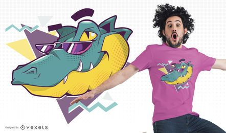 Cooler Alligator-T-Shirt Entwurf