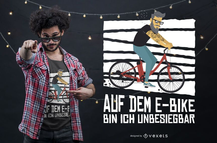 Hipster Bicycle T-shirt Design