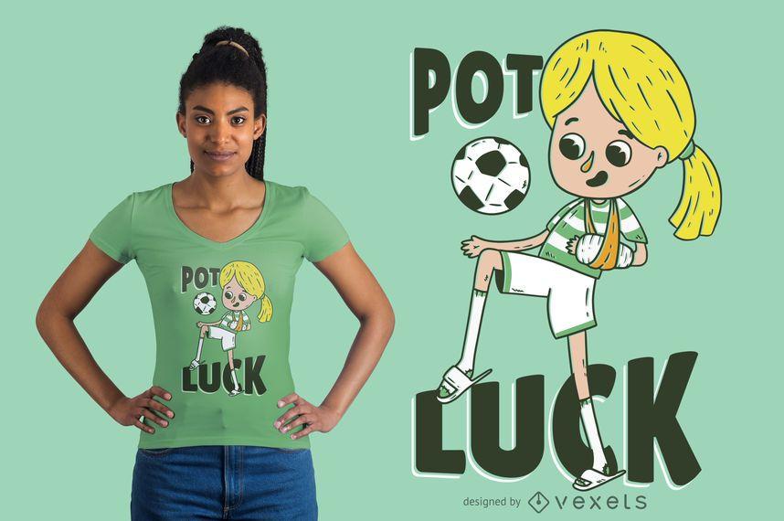 Projeto do t-shirt do futebol de Potluck