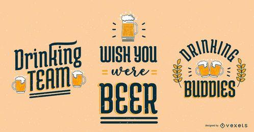 Oktoberfest-Bier-Schriftzug-Set
