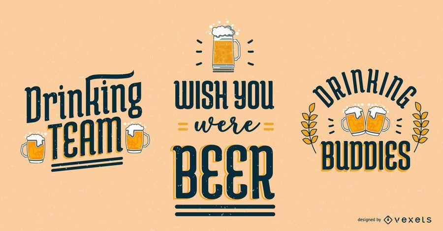 Conjunto de letras de cerveja da Oktoberfest