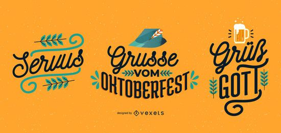 Conjunto de banner de letras de Oktoberfest