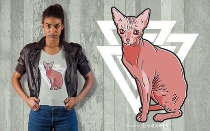 Sphynx cat t-shirt design