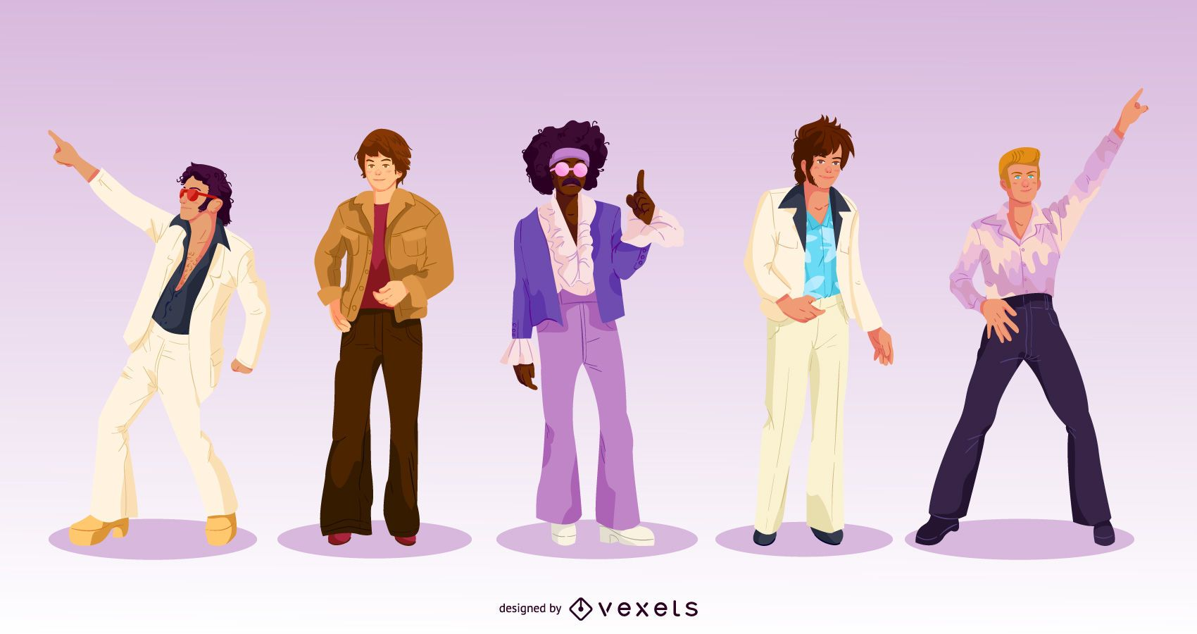 70s Men Character Pack