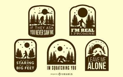 Bigfoot Badges Collection