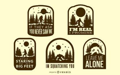 Coleção de emblemas Bigfoot