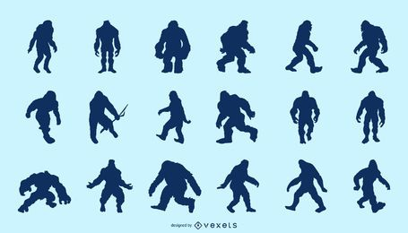 Pack de silueta de Bigfoot