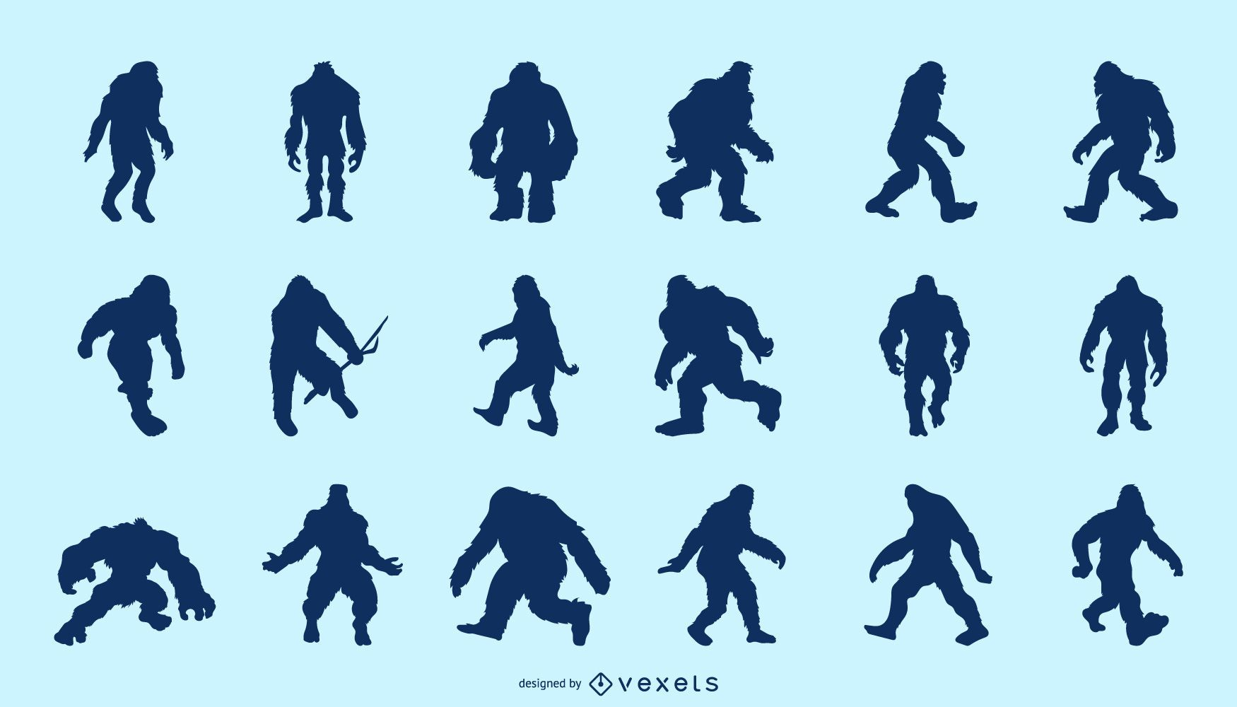 Paquete de silueta Bigfoot